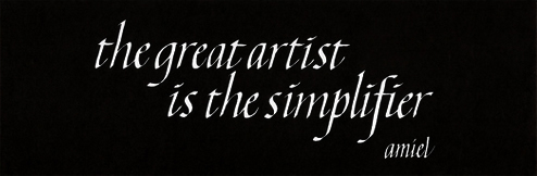 Amiel understood the essence of art. Many clients want \